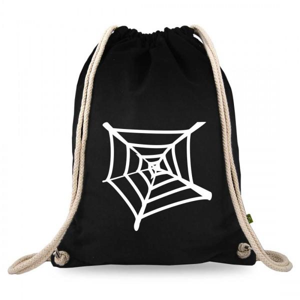 Spinnennetz Turnbeutel mit Motiv