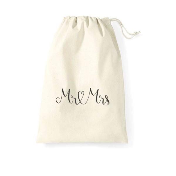 Gastgeschenk Beutel Mr & Mrs