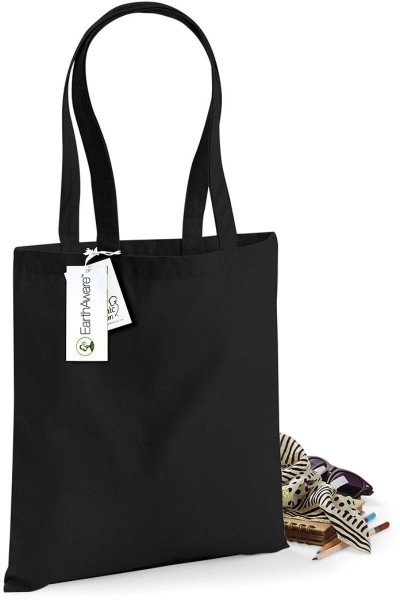 Jutebeutel Einkaufstasche Stoffbeutel Bio-Baumwolle ca 67 cm schwarz