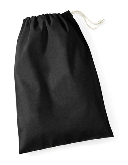 unbedruckte Stoffbeutel aus Baumwolle schwarz L - 40 x 45 cm