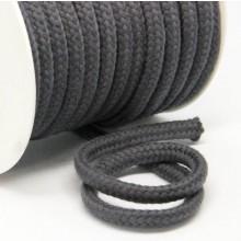 Kordel Baumwolle 8 mm für Turnbeutel anthrazit Meterware