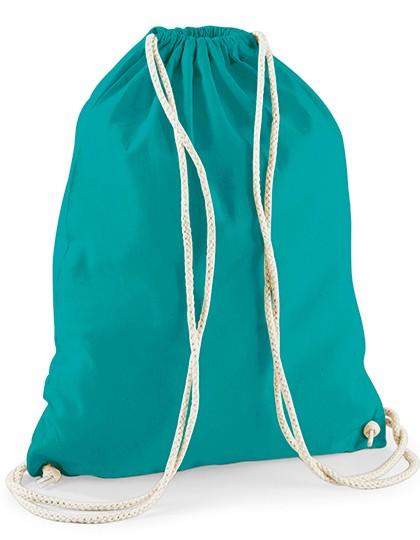 Turnbeutel unbedruckt 100% Baumwolle emerald