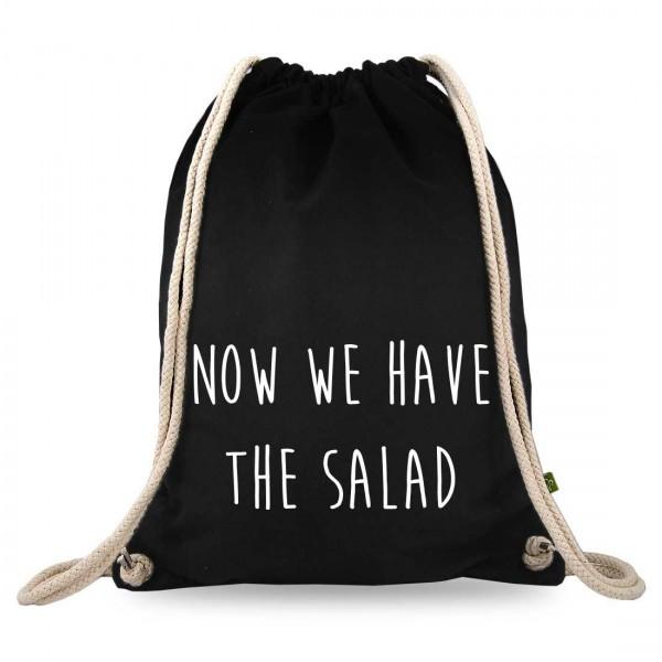 now we have the salad Turnbeutel mit Spruch
