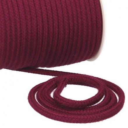 Kordel Baumwolle 8 mm für Turnbeutel weinrot Meterware