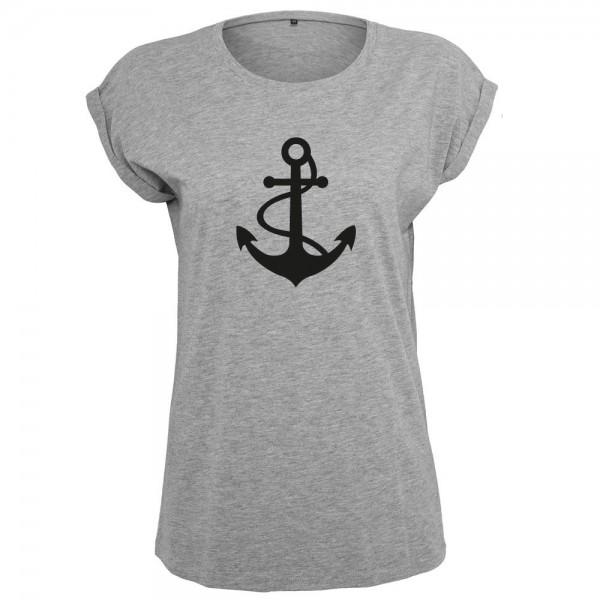 Anker mit Seil T-Shirt Frauen Damen Women
