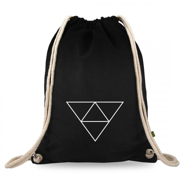 Dreieck im Dreieck Turnbeutel mit Motiv