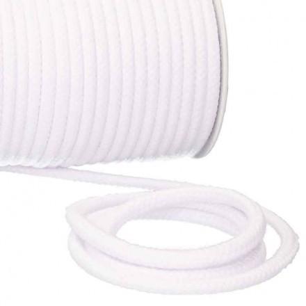 Kordel Baumwolle 6 mm für Turnbeutel weiß Meterware