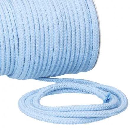 Kordel Baumwolle 6 mm für Turnbeutel hellblau Meterware
