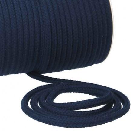 Kordel Baumwolle 6 mm für Turnbeutel dunkelblau Meterware