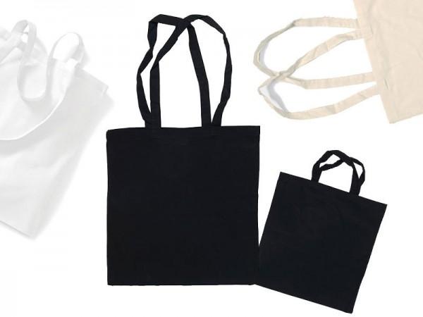 Einkaufsbeutel Einkaufstasche Stoffbeutel unbedruckt 3 Größen 3 Farben