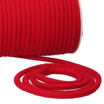 Kordel Baumwolle 6 mm für Turnbeutel rot Meterware